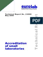Accreditation of Small Laboratories