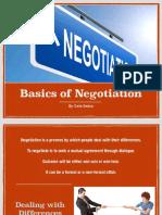 Basics of Negotitaion