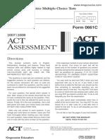 ACT真题2006年1月Form 61C-官方