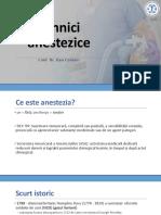 Tehnici de Anestezie