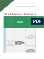 Matriz Diagnóstico Objetivos Metas