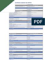 Academic Calendar 17-18-1