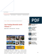Cara Tracking Ninmedia Satelit Chinasat 11 - Antena Parabola