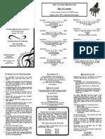 2017 Dallas Piano Solo Brochure