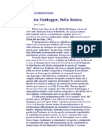 HEIDEGGER ( SULLA SISTINA )