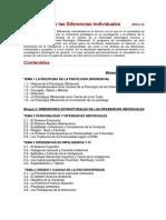 Psicología+de+las+Diferencias+Individuales+2013-14+Programa
