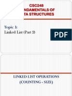 3) Linked List (Part 2)
