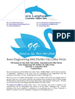 Entry Form Jones Engineering 99th Dublin City Liffey Swim Visitors Race Ulster Connacht and Munster Online