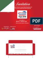 Invitation Card  peshawar property expo
