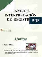 Manejo de Registros e Interpretacion de Resultados