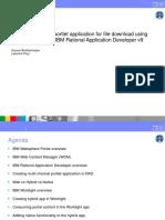 Creation of Hybrid Portlet Application for File Download