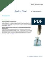 Ro Tax Legal Weekly Alert 30 Iunie 4 Iulie 2014