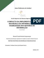 Dissertação-impacto Da Implementação de Segurança Da Informação Na Usabilidade Dos Sistemas de Informação