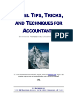 Excel Tips, Tricks and Techniques for Accountants