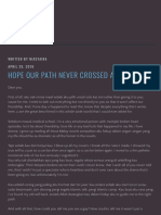 Hope Our Path Never Crossed Again – Tulis.co