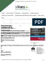 Desemprego Sobe e Atinge 13,1 Milhões de Brasileiros - Tribuna Do Norte