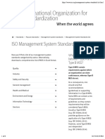 Management System Standards List