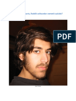 Aaron Swartz - Co-Author of RSS and Internet Activist Commits Suicide