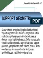 Geostatistik Support Geometri