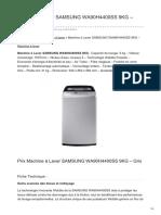 Machine à Laver Samsung Wa90h4400ss 9kg Gris