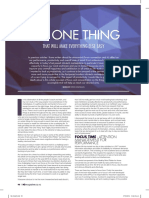 The One Thing Article