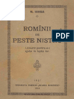 Nicolae Iorga - Romanii de peste Nistru - 1918