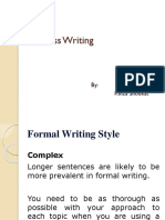 Formal Business Writing