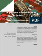 Los Primeros Criminalistas en Mexico