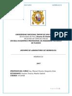 Informe de Resalto Hidráulico