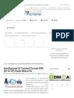 Konfigurasi IP Tunnel_Tunnel IPIP (IP-in-IP) Pada MikroTik