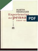 Heidegger, M. 1976, Experiencias del pensar (1919-1976).pdf