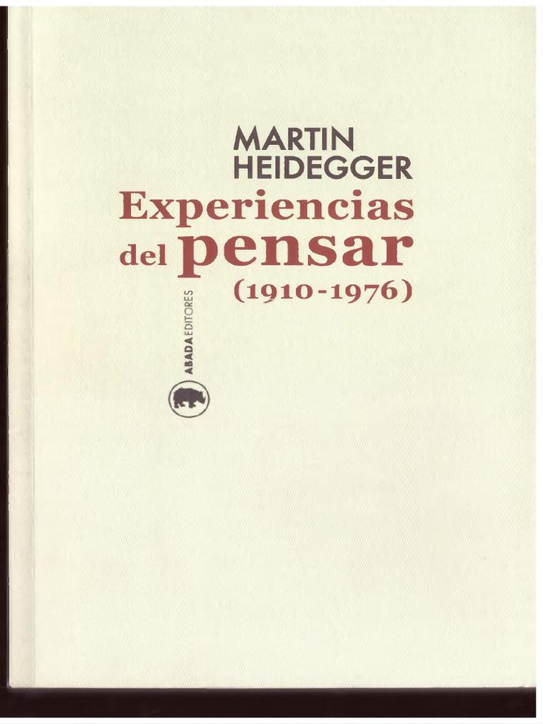 Heidegger M 1976 Experiencias Del Pensar 1919 1976pdf