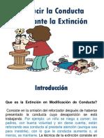 Reducir La Conducta Mediante La Extinción Exposicion