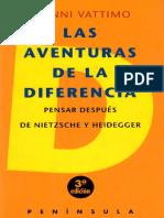 Vattimo Gianni - Las Aventuras De La Diferencia.pdf