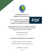 Diseño Organizacional Para La Empresa Operadora de Turismo Carol Tour s.a Del Cantón Salinas Provincia de Santa Elena Año 2013