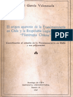 Garcia Valenzuela Rene - El Origen Aparente De La Francmasoneria En Chile.pdf