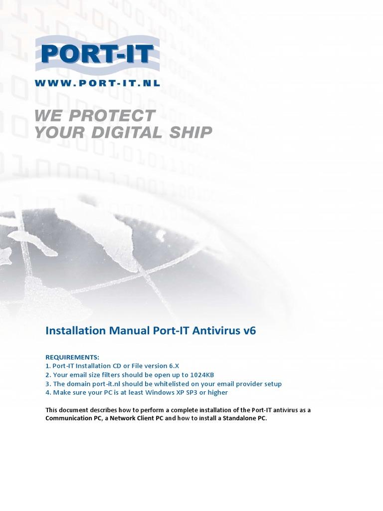 Port-IT Antivirus V6 Installation Manual - Highres | Installation (Computer  Programs) | Antivirus Software