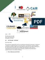 California Coalition Letter