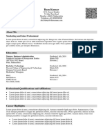 Sample Traditional Heavy Resume