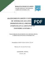 Abastecimiento, Diseño y Construccion de Sistemas de Agua Potable - Universidad Mayor de San Simon - 2008