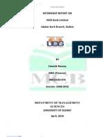 MCB Internship Report
