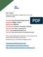 1 Registration Form