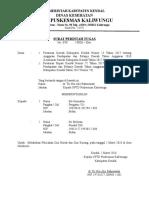 Surat Tugas Pelacakan Gizi Buruk Maret 2018