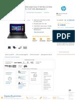 Laptop Hp Pavilion 15-p100dx Intel Core i7-4510u 2.0 Ghz, Ram 8gb, Hdd 750gb, Dvd, 15.6_ Hd, Windows 8.1