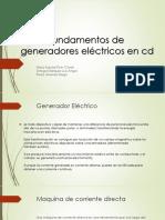 Fundamentos de Los Generadores Electricos en CD