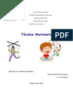 Trabajo Singular Arte Nº 2 Tecnica de Marionetas