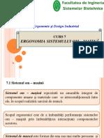 Curs 7 Ergonomia Sistemului Om Mașină