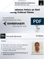 12. 38 TOCPA Paris March 2018 - Embraer - Fixing Airplanes Twice as Fast With CCPM