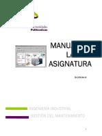 Manual Administracion Del Mantenimiento