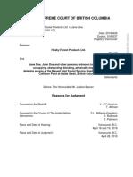 Husby Forest Products Ltd. v. Jane Doe, 2018 BCSC 676